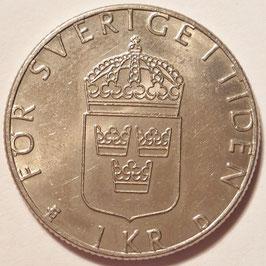 Sweden 1 Krona 1982-2000 KM#852a
