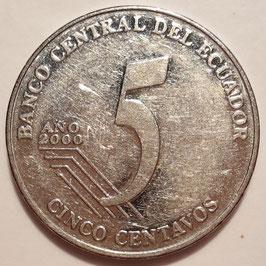 Ecuador 5 Centavos 2000-2003 KM#105