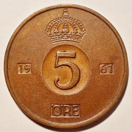 Sweden 5 Öre 1952-1971 KM#822