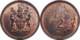 Rhodesia ½ Cent 1970-1977 KM#9