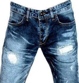 Herren Slim Fit Jeans Hose