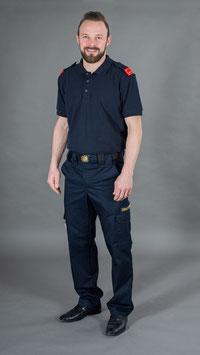 Diensthose blau mit Bundweitenverstellung