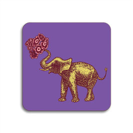 Quadratischer Untersetzer Elefant