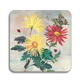 Untersetzer Blumen quadratisch klein