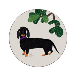 Mini-Hundeuntersetzer Dackel