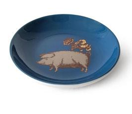Miniteller Schwein