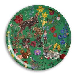 Tablett Bambi groß rund