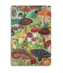 Holzschneidebrett Pilze