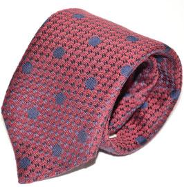 Krawatte | Polka Dot rot/blau | 8 cm