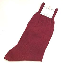 Socken in Baumwolle, burgunderrot