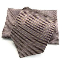 Krawatte m. Tuch | RETE beige | 8,5 cm