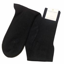 Kniestrumpf in Baumwolle, schwarz