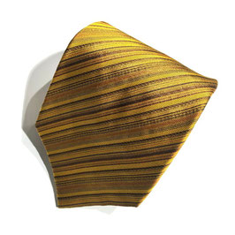 Jacquard-Seidenkrawatte FANCY STRIPE, gold