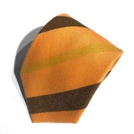 Streifen-Krawatte, Cashmere, ocker