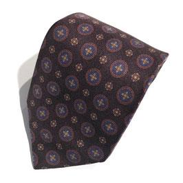Braune Gum Twill-Krawatte PATRAGENO, Seide