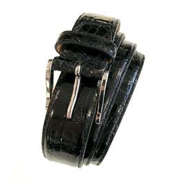 Krokogürtel STEFANO schwarz