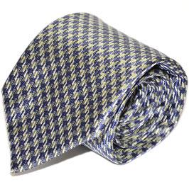 Krawatte | Hahnentritt blau/grün | 8 cm