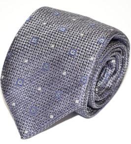 Krawatte | Ornament grau | 8 cm