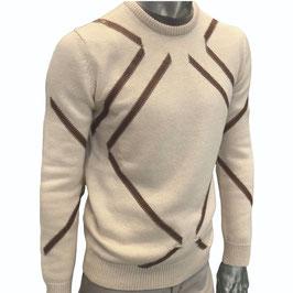 Pullover PETRONA Cashmere mit Leder, beige
