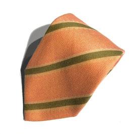 Streifen-Krawatte, Cashmere, lachs
