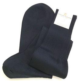 Kniestrumpf in Baumwolle, dunkelblau