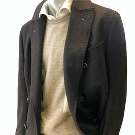 Doppelreihiger Mantel MIGUEL in Wolle mit Cashmere