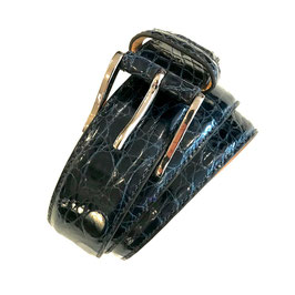 Krokogürtel STEFANO blau