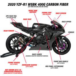 YZF-R1 2020 カーボンレースカウル