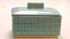 Keramik-Dose blau 1930
