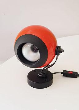 Wandleuchte/Nachttischlampe orange 70er Jahre