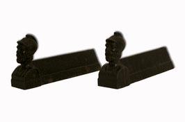 Kamin Holzlege aus Gusseisen Paar