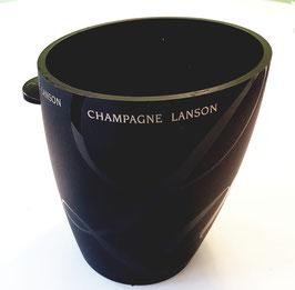 Flaschenkühler schwarz Champagne Lanson