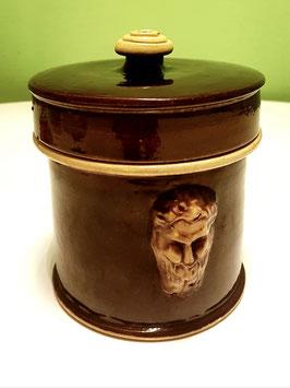 Dose Keramik braun