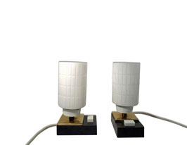 Nachttischlampen Paar 1950