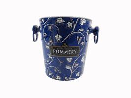 Flaschenkühler Metall blau Pommery