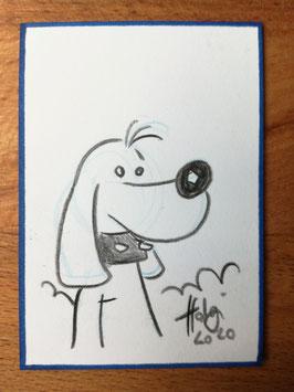 Holger Bommer: Minizeichnung Kurts Hund Zappel