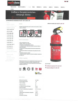 Extintor Polvo ABC 1 kg , para Vehiculos