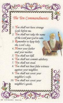 イタリア 羊皮紙 祈りカード英語 十戒 6680