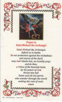 イタリア 羊皮紙 祈りカード英語 聖ミカエル 7397