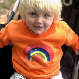 SWEATER KIDS - ORANJE - just to cheer you up!