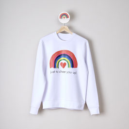 SWEATER UNISEX - WIT - JUST TO CHEER YOU UP!