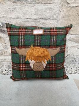 Kissen Harris Tweed Highland Cow / Hochland Kuh
