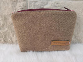 Kosmetiktasche aus Harris Tweed  (latte)
