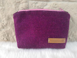 Kosmetiktasche aus Harris Tweed  (purple)