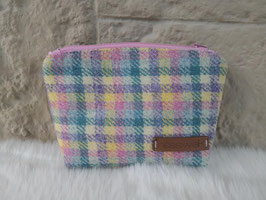Kosmetiktasche aus Harris Tweed  (Icecream)