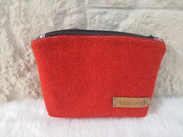 Kosmetiktasche aus Harris Tweed  (orange)