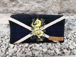 Federmäppchen, Täschchen, Kosmetiktasche (Stickerei Schottischer Löwe/Scottish Lion)