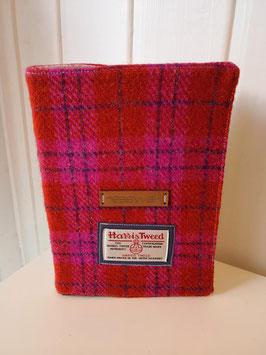 Notizbuch Harris Tweed (red/pink)