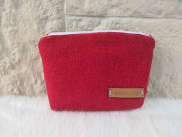 Kosmetiktasche aus Harris Tweed  (rot)