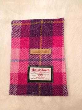 Notizbuch Harris Tweed (Pink Tartan)